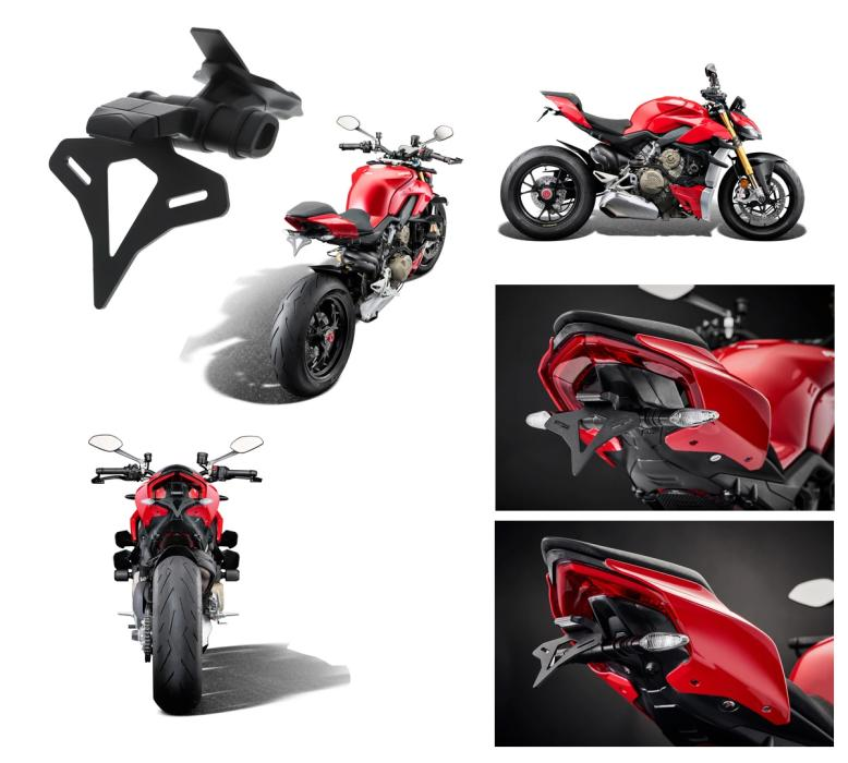 Ducati Streetfighter V4 / V4 S from 2020 License plate holder from Evotech Performance