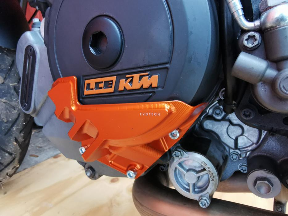 KTM 1290 R engine guard left - Orange - Evotech S.R.L
