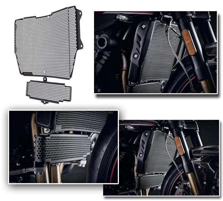 TRIUMPH Speed Triple S / RS Radiator Guard and Oelradiator Guard from 2018