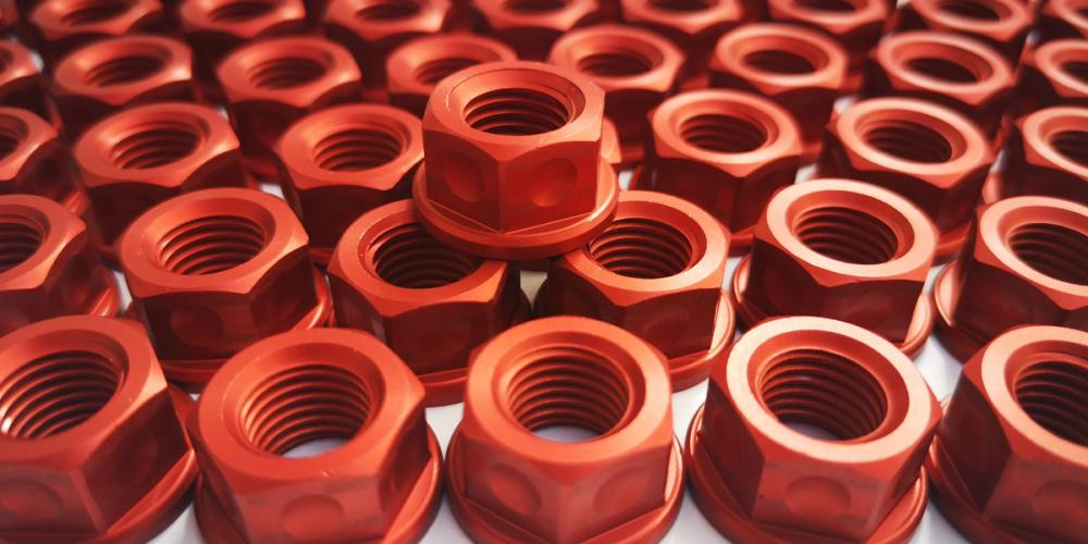 EP Alloy nut M10x1.25 for chainring carrier KTM 1290 SDR / GT - RED