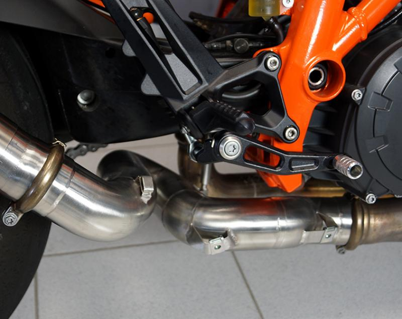 BODIS KAT SPARE PIPE for the KTM 1290 SDR made of stainless steel