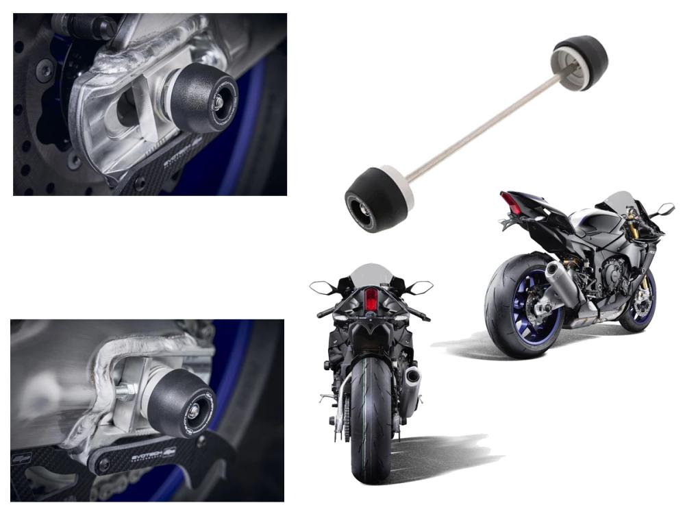 Yamaha FZ, YZF, MT Rear Axle Protection from Evotech Performance