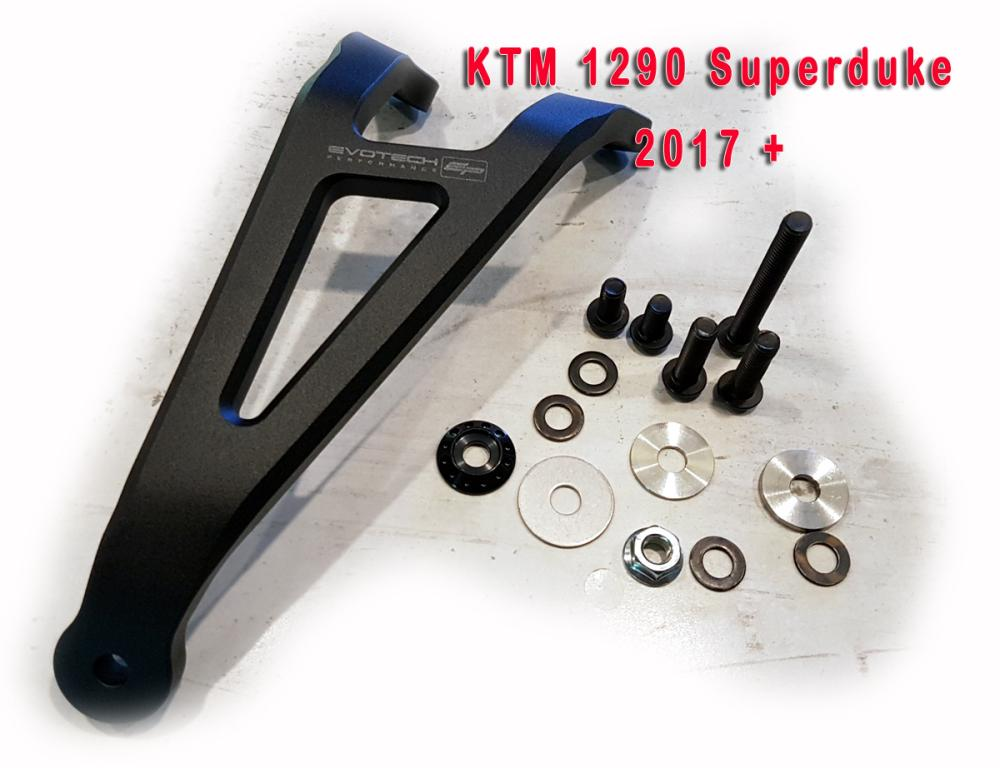EVOTECH Performance exhaust bracket for KTM Superduke 1290 SDR 2.0 from 2017